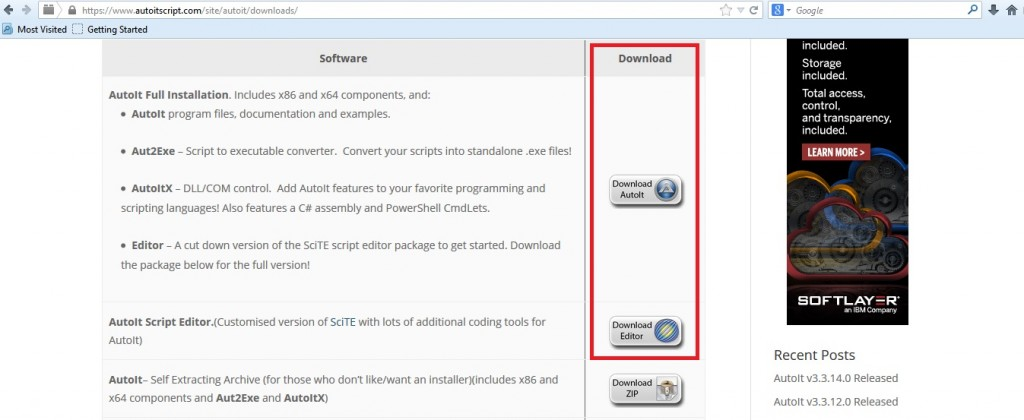 Download AutoIt & AutoIt Editor