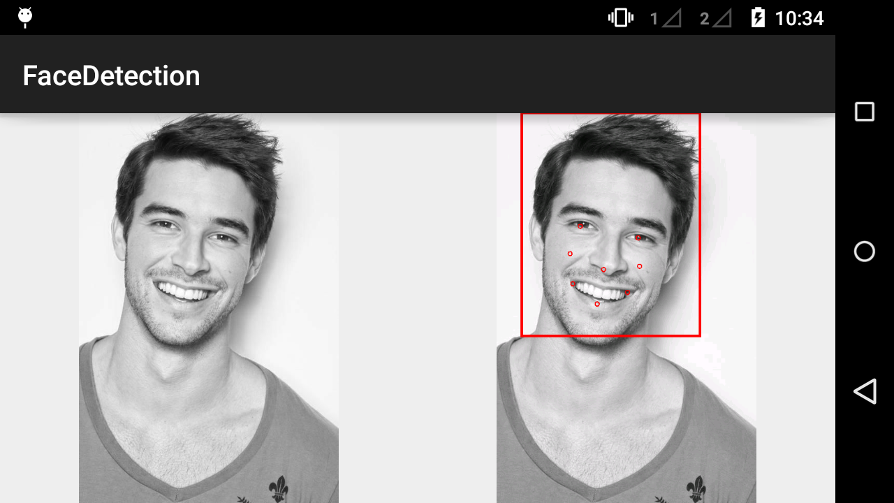 Face Detection in Android