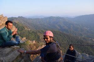 Rock Climbing near Chauli ki Jaal - CSR trip to Arohi Bal Sansar