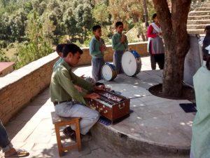 Morning Prayer at Arohi Bal Sansar at Satoli