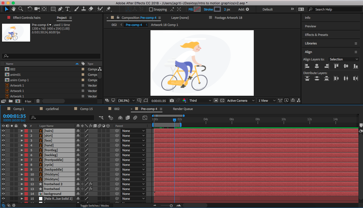 beginning with motion graphics