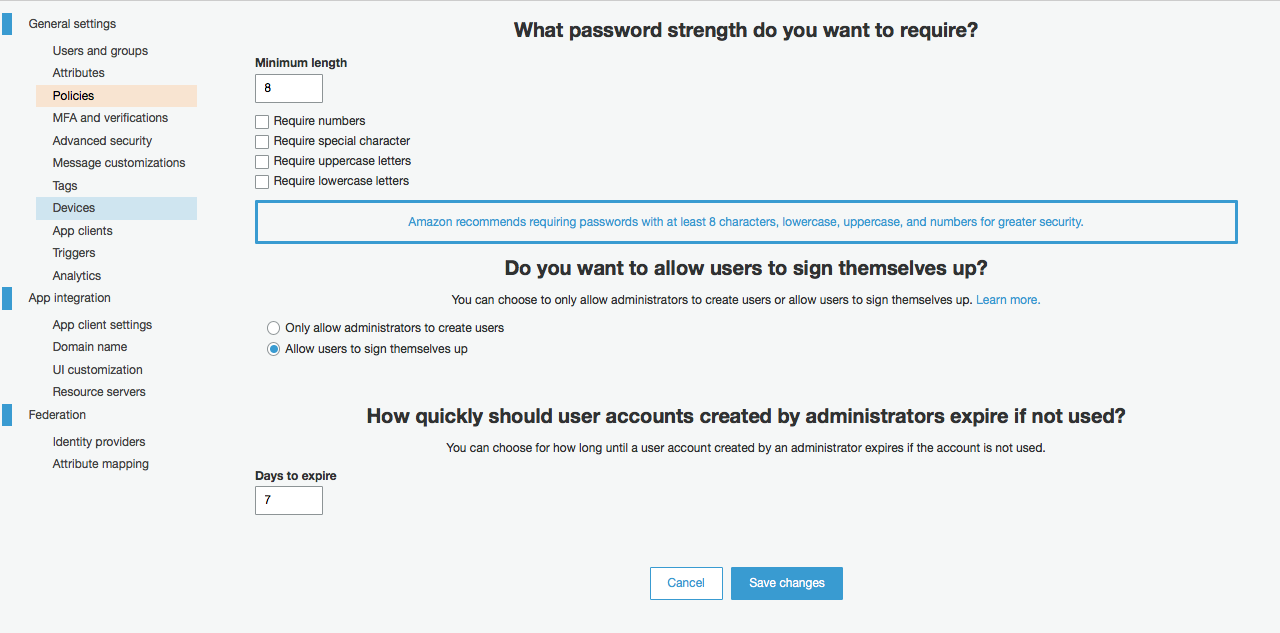select authorization while adding user