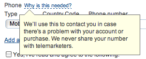 how to reassure your users while filling forms