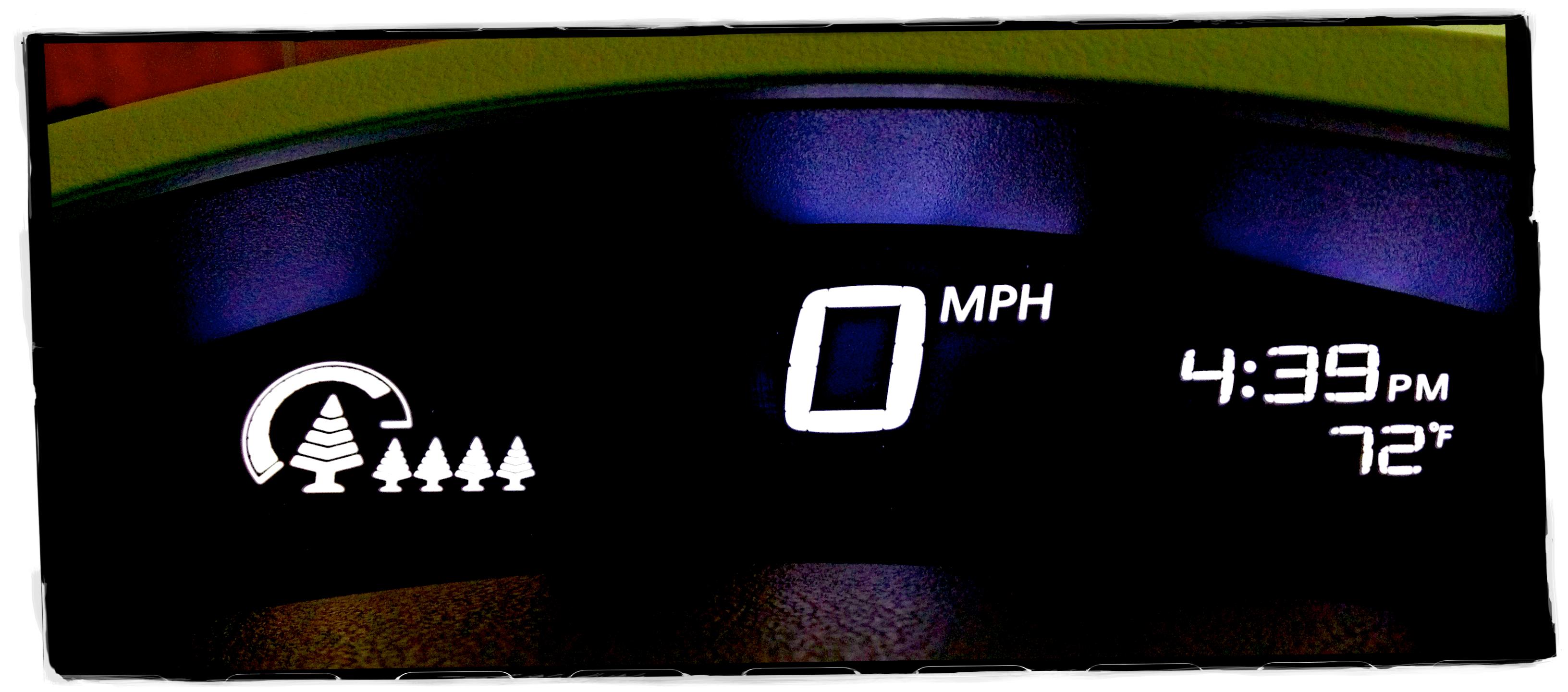 Nissan Leaf's Eco-indicator