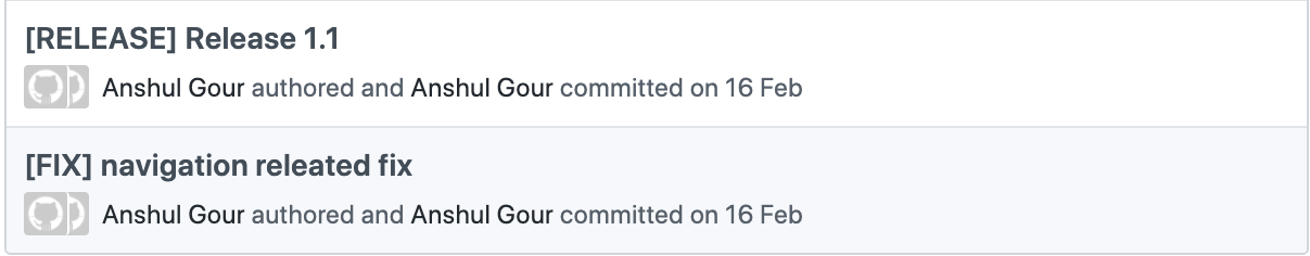 Commits without emojis